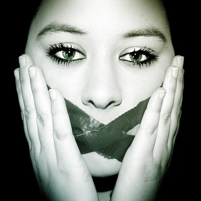Woman-with-mouth-taped-shut